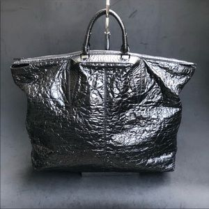 ALEXANDER WANG cracked patent leather large tote